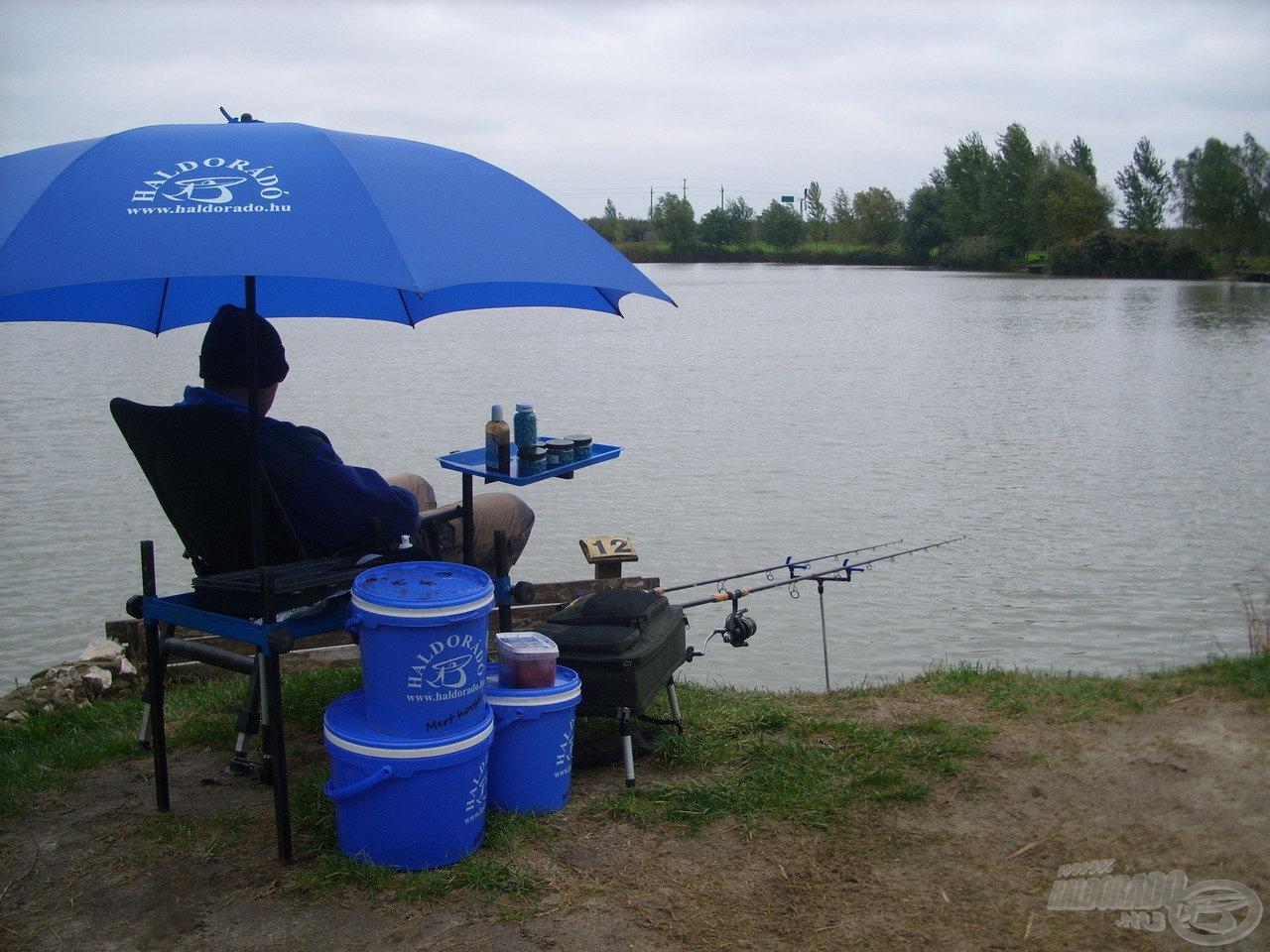 Első horgászatom épp egy nehéz, esős napra esett…