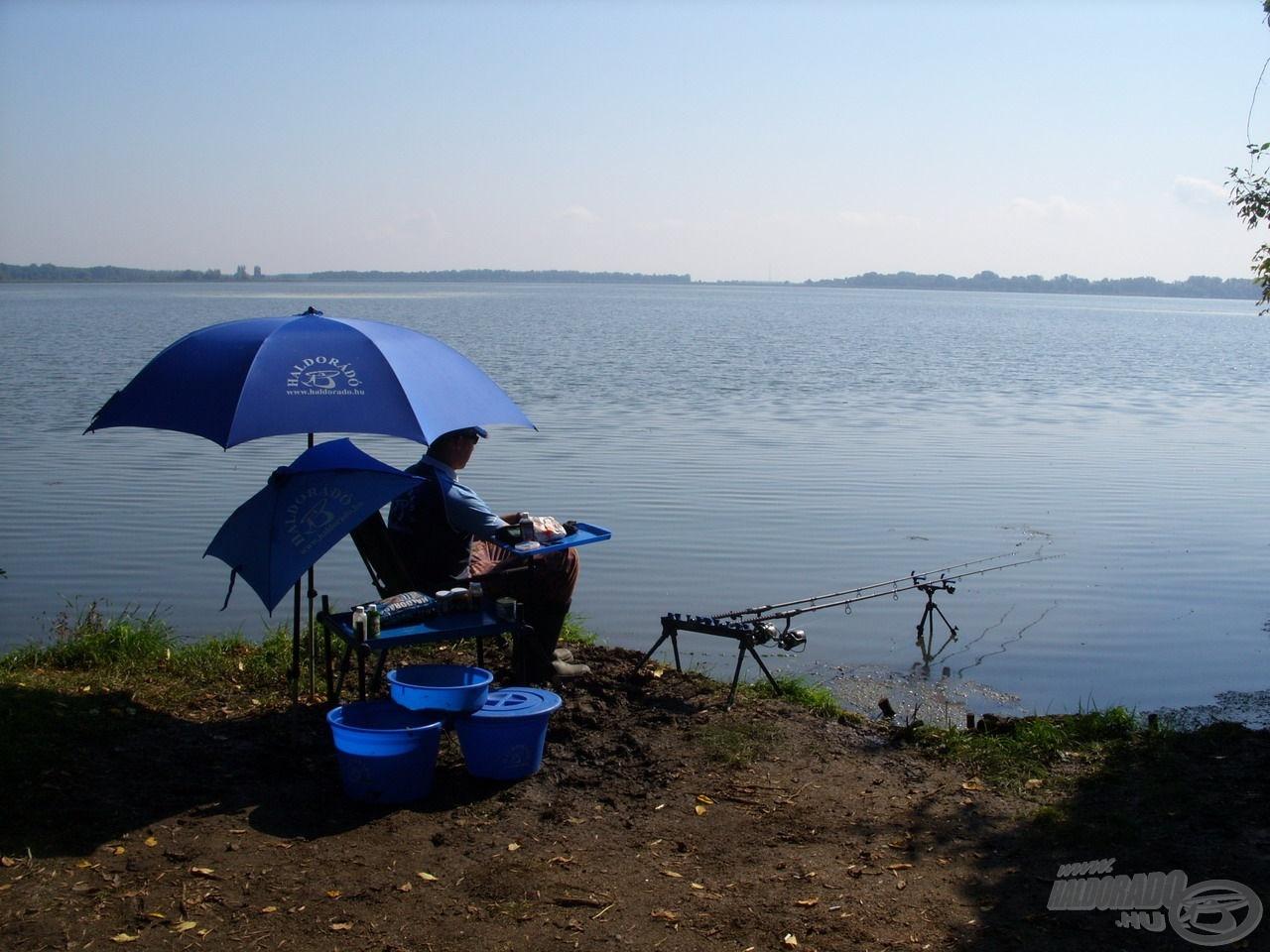 Ilyen fantasztikus környezetben akkor is élvezet a horgászat, ha épp nincs kapás!