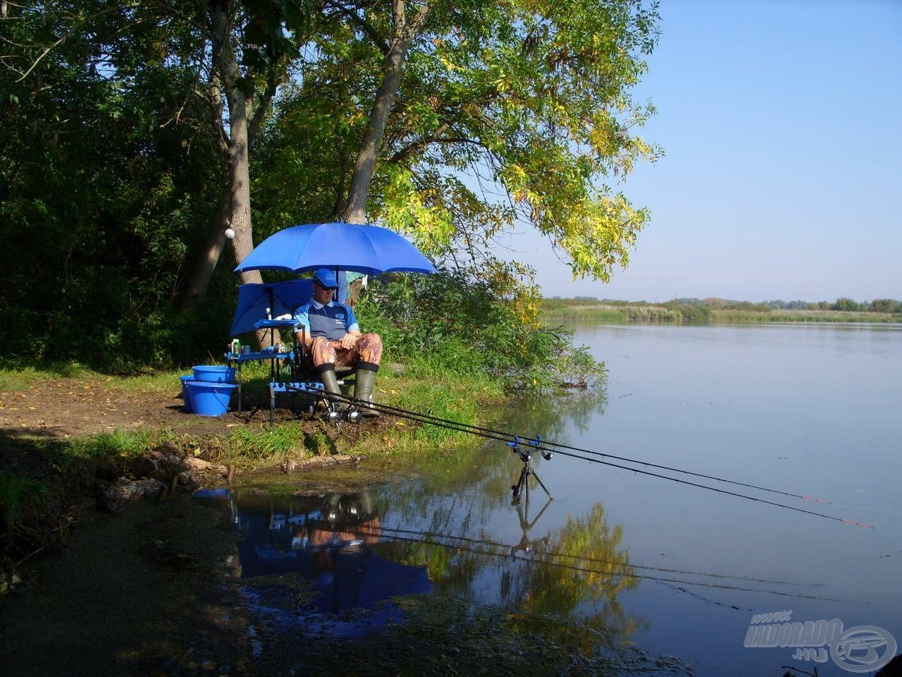Kitartóan horgásztam végig a délután óráit, de sajnos eredménytelenül