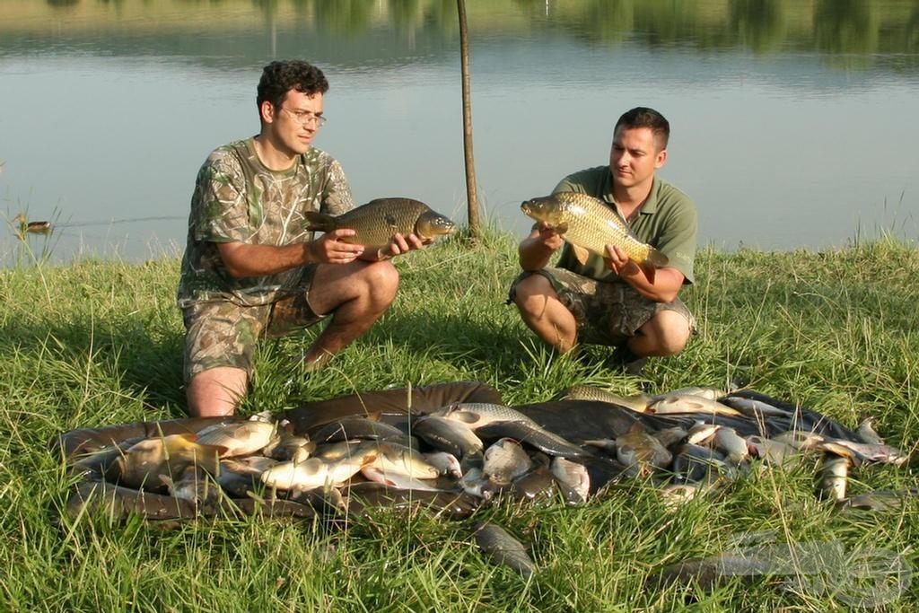 Szép terítéket fogtunk össze a néhány órás horgászaton