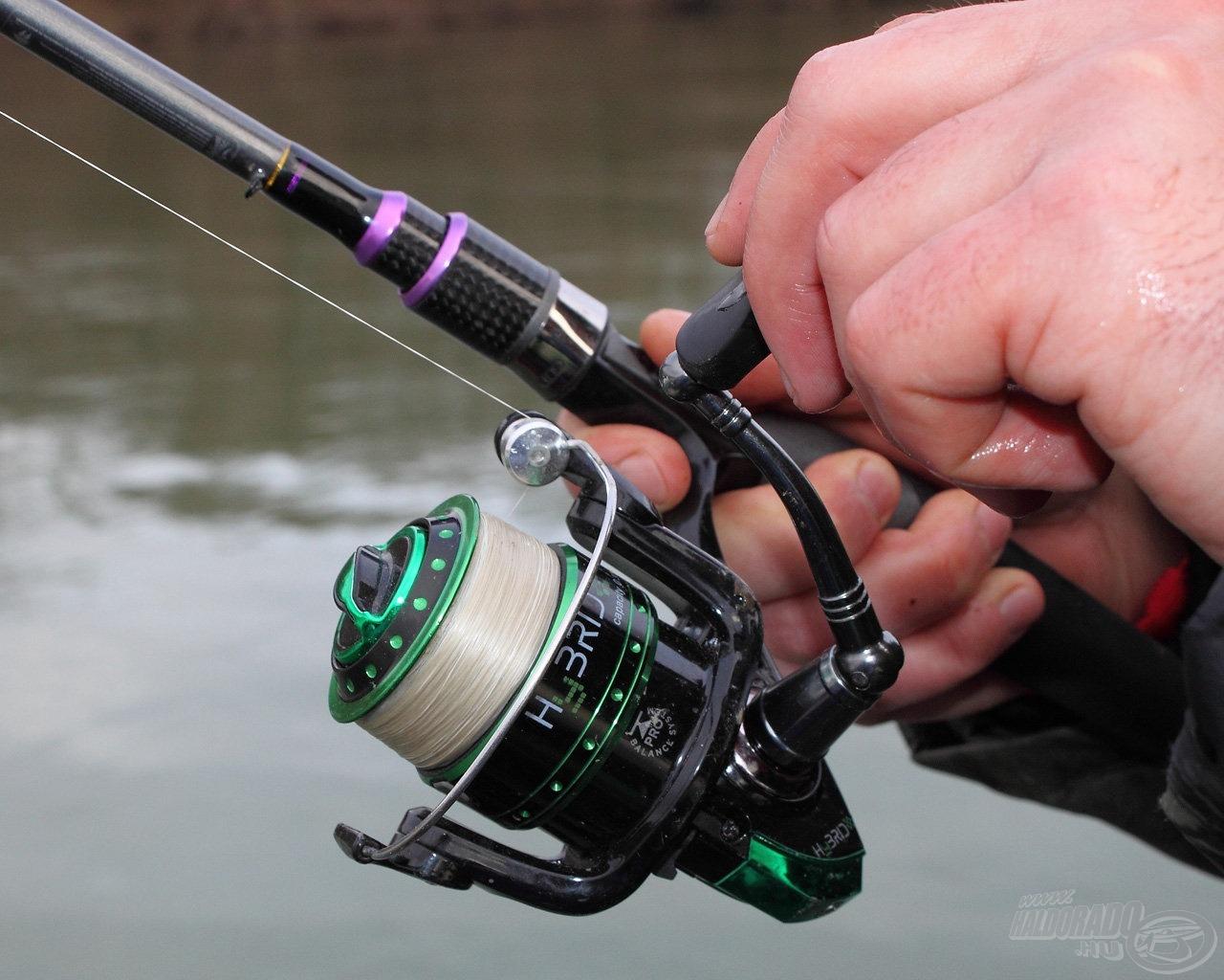 Zöld orsó, lila bot, színes horgászat