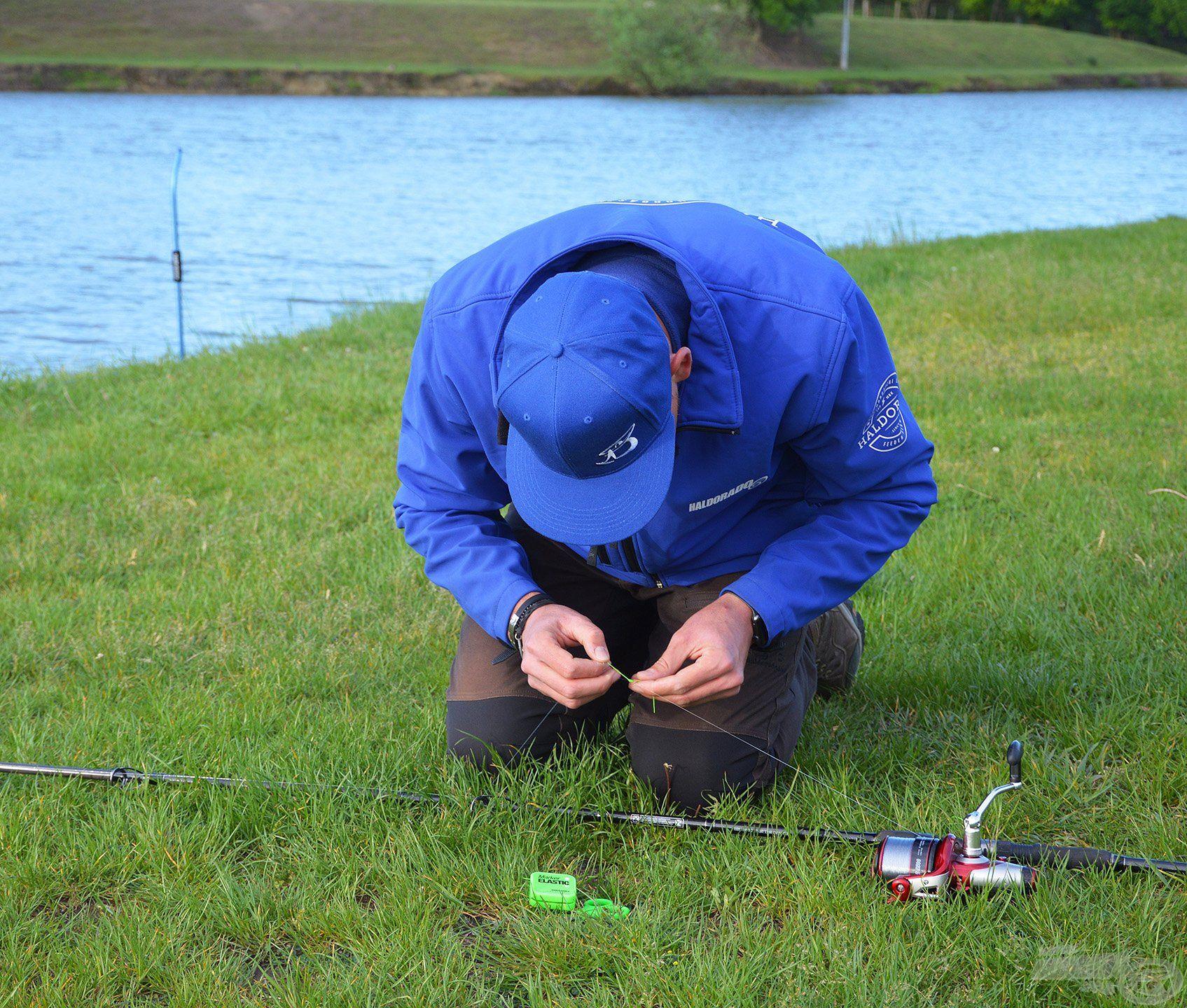 A horgászatot a távolság precíz kimérésével, megjelölésével kezdtem…