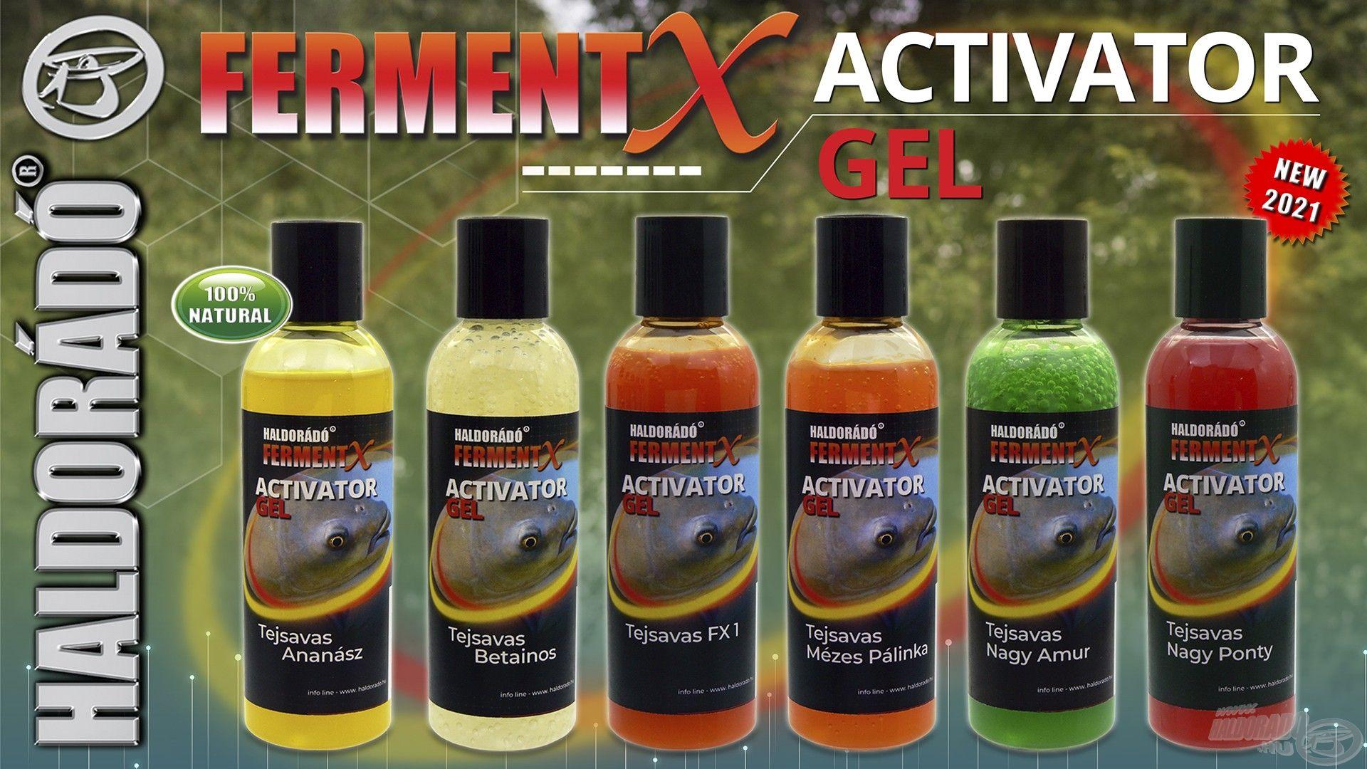 """A FermentX Activator Gel egy egyedi fermentációs eljárással készült """"zselészerű"""" aroma. A termékcsalád a 6 legfogósabb nyári ízesítésünkben érhető el!"""
