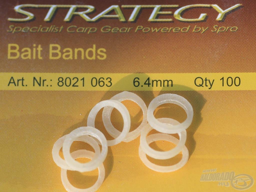 """Ezek után fogjunk egy """"STRATEGY Baits Band"""" szilikon bojligyűrűt, erre fogjuk majd felhúzni a pelletet"""
