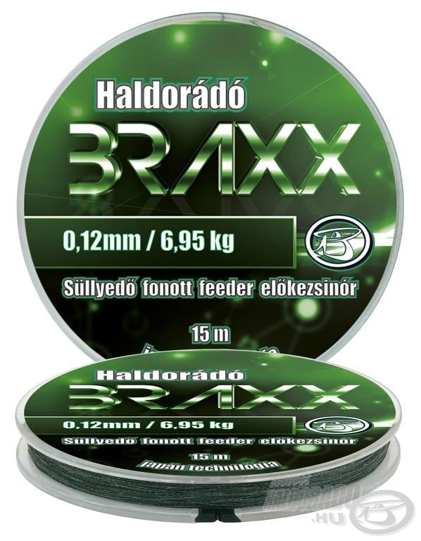 A Braxx professzionális süllyedő fonott feeder előkezsinór magas szakítószilárdsággal. Lágyság és erő egyben!
