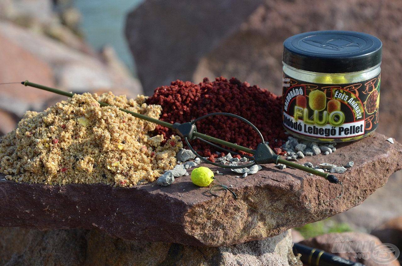 Az Édes Ananász bojlis termékek alapjául minden idők legsikeresebb Haldorádó csalija, az Oldódó Lebegő Fluo Ananász pellet szolgált