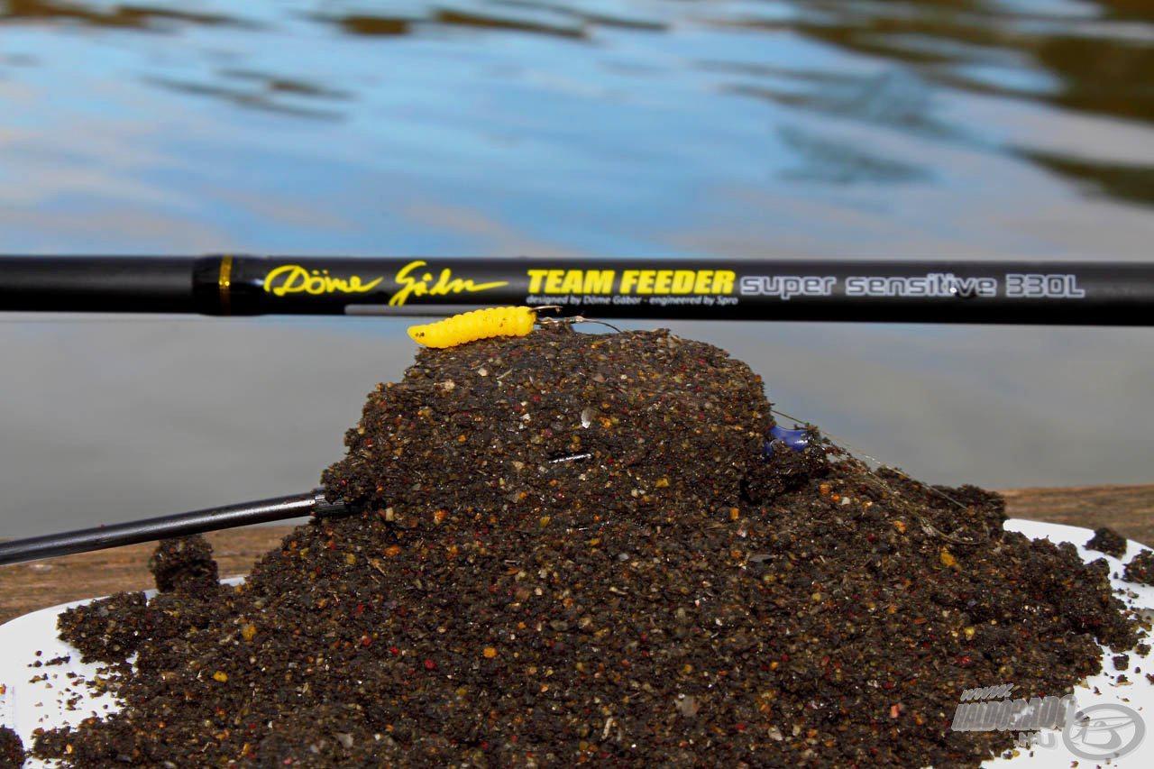 A Fluo Energy - Fekete Erő a Pelletes Fekete etetőanyag, methodozáshoz átalakított formája