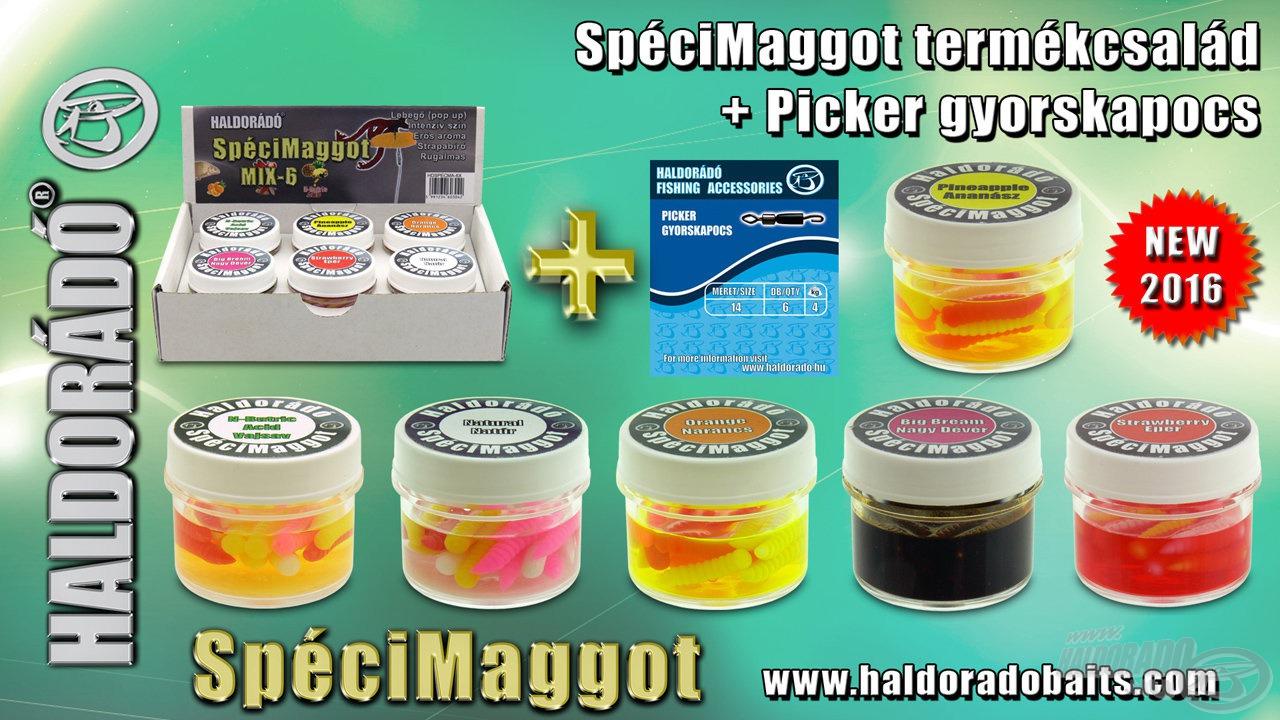 A SpéciMaggot is kapható lesz 6-os, minden ízt tartalmazó gyűjtődobozban