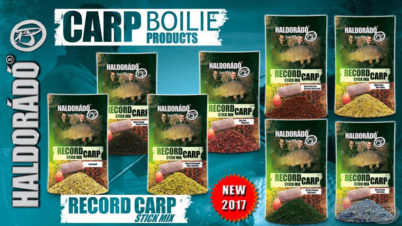 A Record Carp Stick Mix család egy abszolút újdonság, mely a szelektív nagyhal-horgászatot hivatott segíteni és  minden fogós ízváltozatunkban elérhető