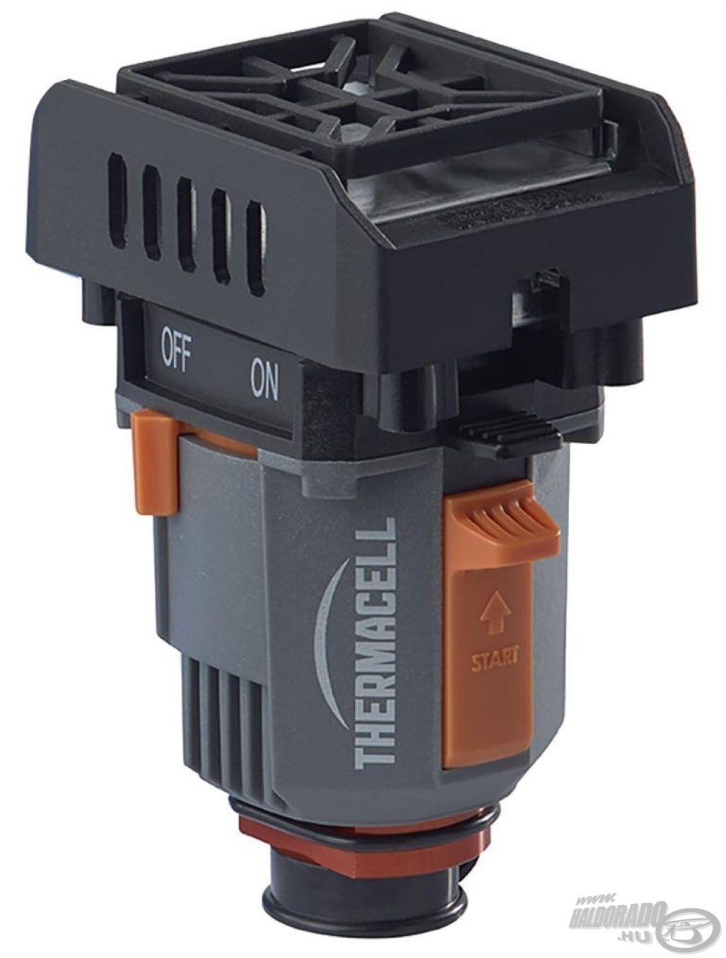 Ez a ThermaCELL készülék erre alkalmas gázpalackról működtethető. Kifejezetten kempingezőknek és világjáróknak ajánlott
