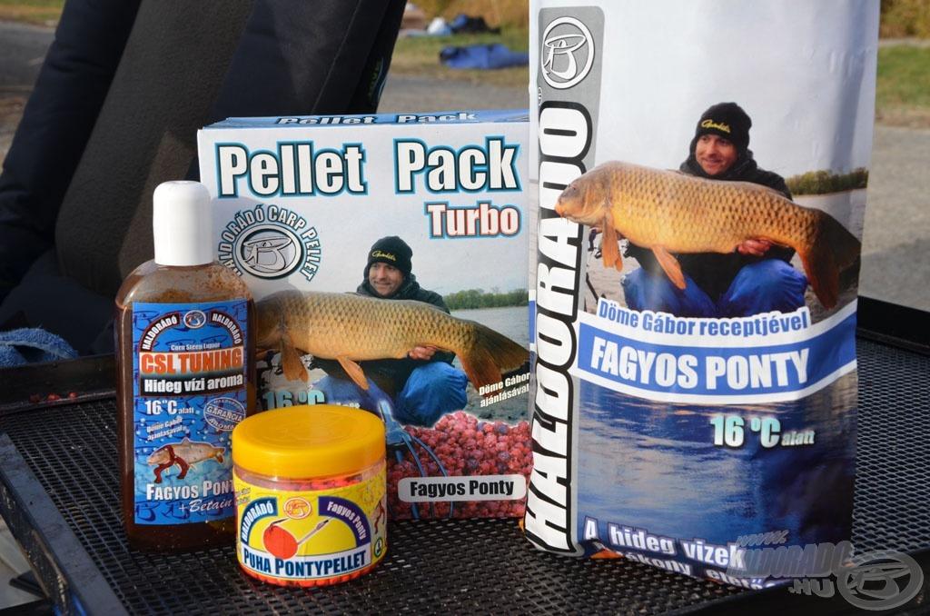 Az etetőanyaggal és Puha Pontypellettel válik ettől az évtől teljessé a Fagyos Ponty termékcsalád