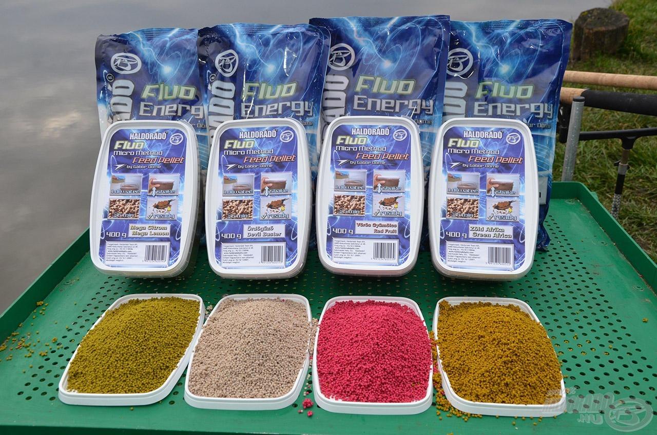 A Micro Method Feed Pellet is négy bevált ízesítéssel kerül forgalomba