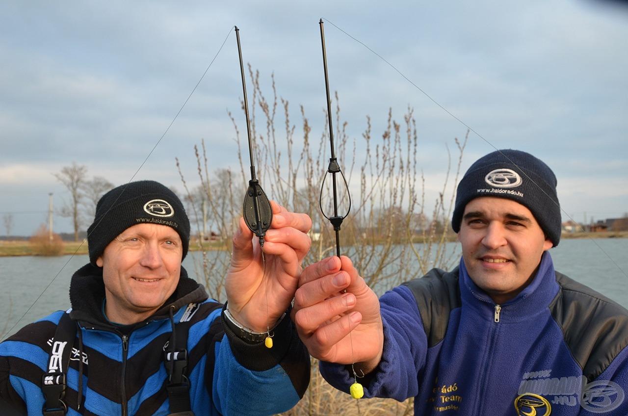 Két különböző végszerelékkel horgásztunk