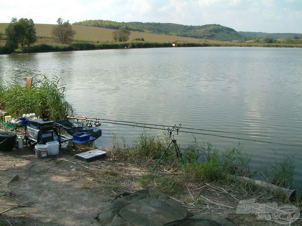 A Tolnai-dombok között van a horgászok menedéke