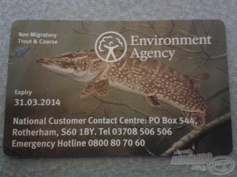 A postán váltható angol horgászengedélyem…