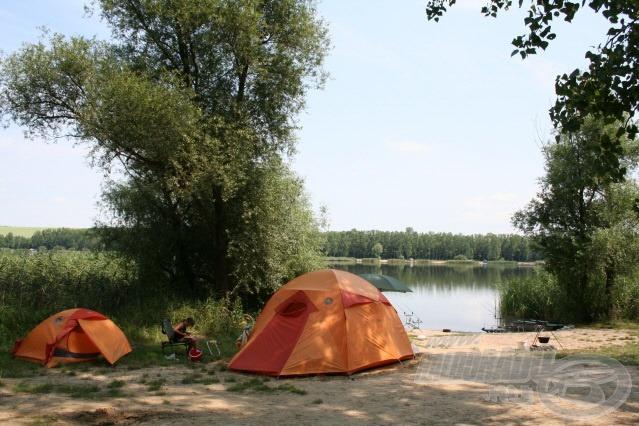 A táborhelyünk