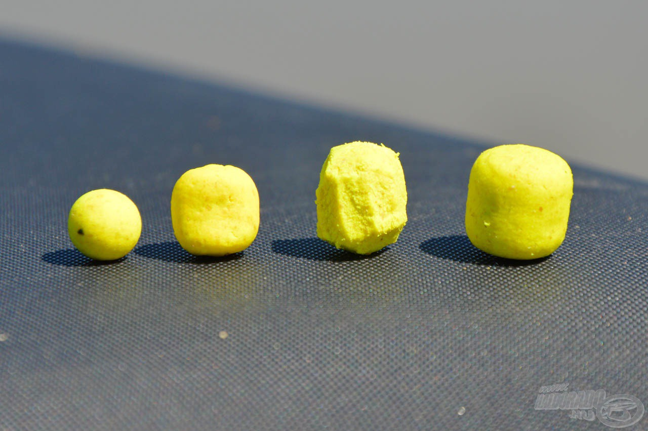 Az örök sláger ananászos ízvilágú csalik aromája már adott, de méretükkel még lehet és érdemes is játszani!
