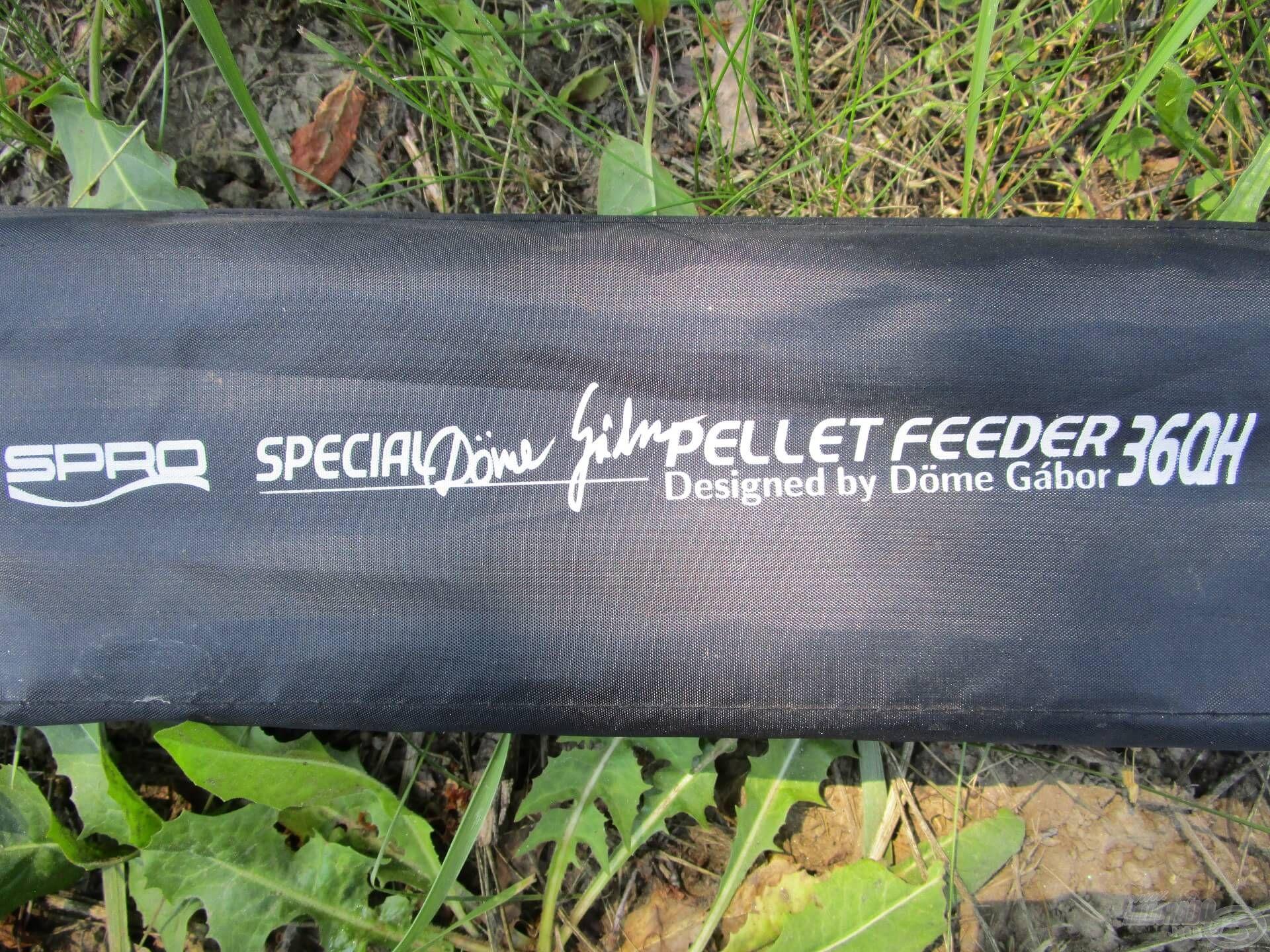 Kedvenc Special Pellet Feeder botom régóta hű társam, a jól megtöltött kosarat könnyedén bedobtam vele a túlparti gyékényes elé