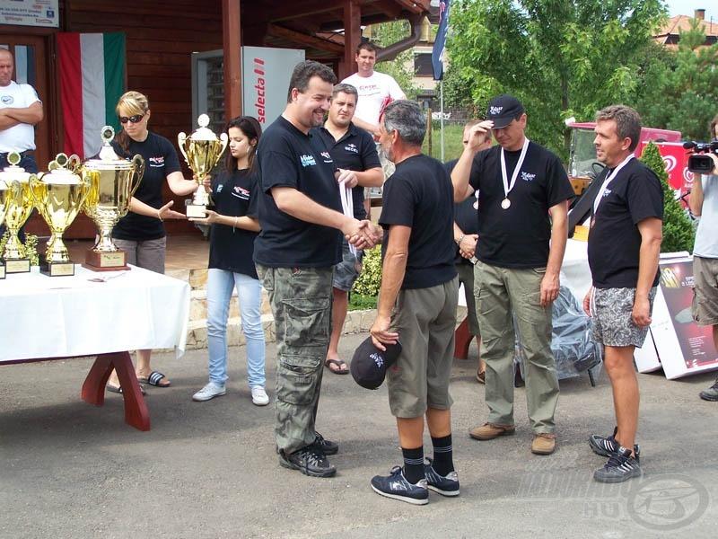 Sikerült magunk mögé utasítani a III. helyezett Sip Carp csapatát…