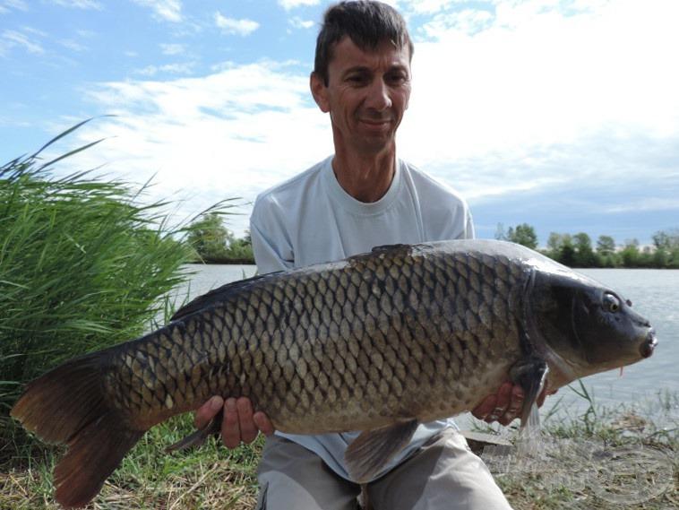 A mérleg 16,5 kilogrammot mutatott, ez Gyuri eddigi egyéni rekordja!