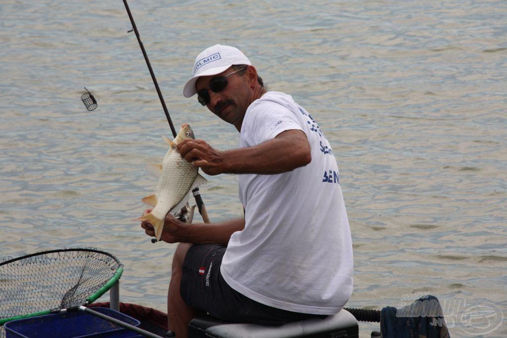 Nagy Benedek a D szektor legszélső horgásza