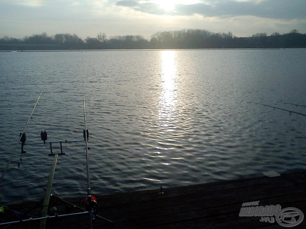 Ritkán, de örömünkre előbújt a nap, és ez a halak kapókedvén is változtatott