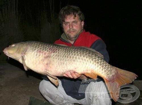 A második naptól egy csodálatos horgászat kezdődött, melynek során nem egy 15 kilós, közel 90 centi hosszú nyurgapontyot is sikerült fognunk