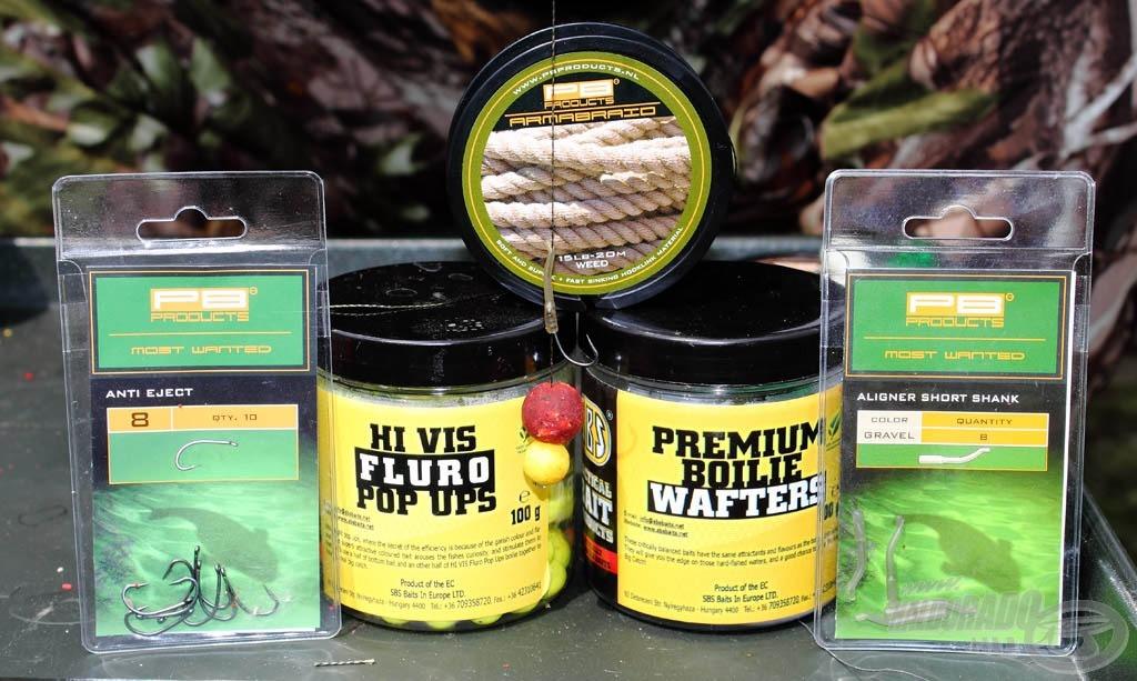 A túra során a legtöbb halat a Fluro Pop Ups csalival kiegészített 16 mm átmérőjű M1 Premium Boilie Wafters kombinációja adta
