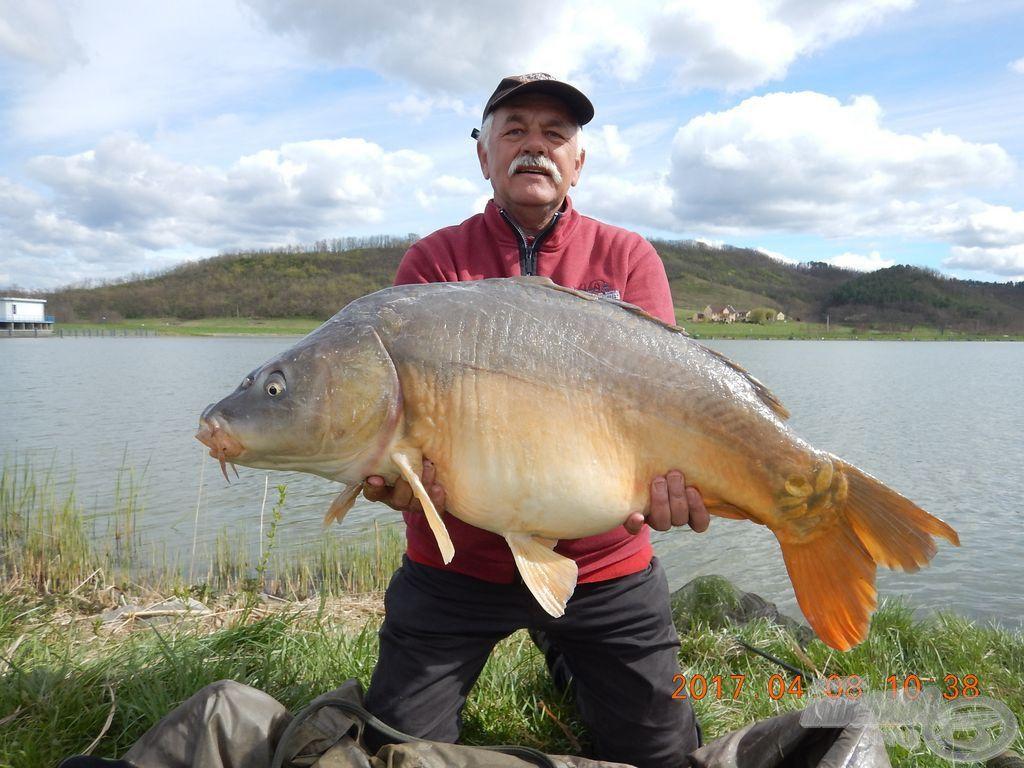 Molnár János és a verseny legnagyobb hala