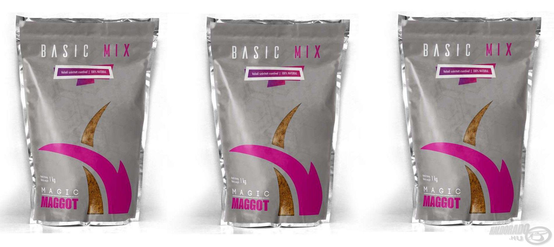 Három különböző tagot számlál a Magic Maggot Basic Mix etetőanyag család