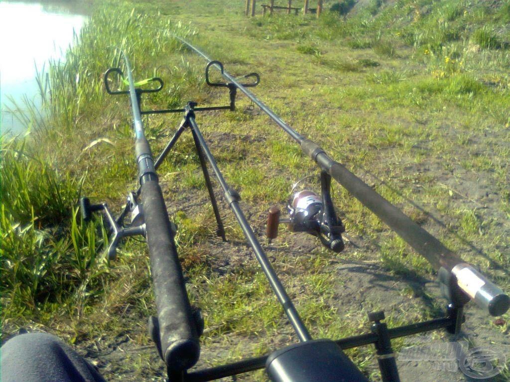 Minden a helyére került, kezdődhetett a horgászat