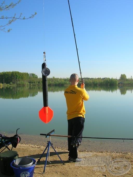 A horgászhely becélzása
