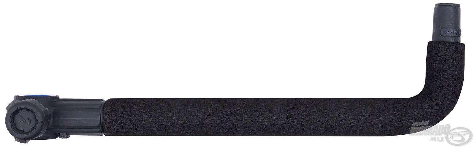 Klasszikus hajlított kar, szivacsos borítással. A hosszabb változat 44 cm...