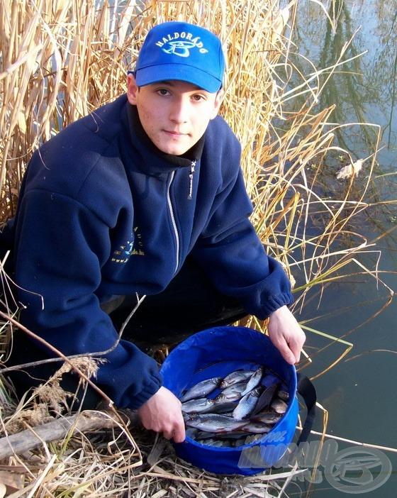 Bő egy óra termése, jó kis horgászat volt!