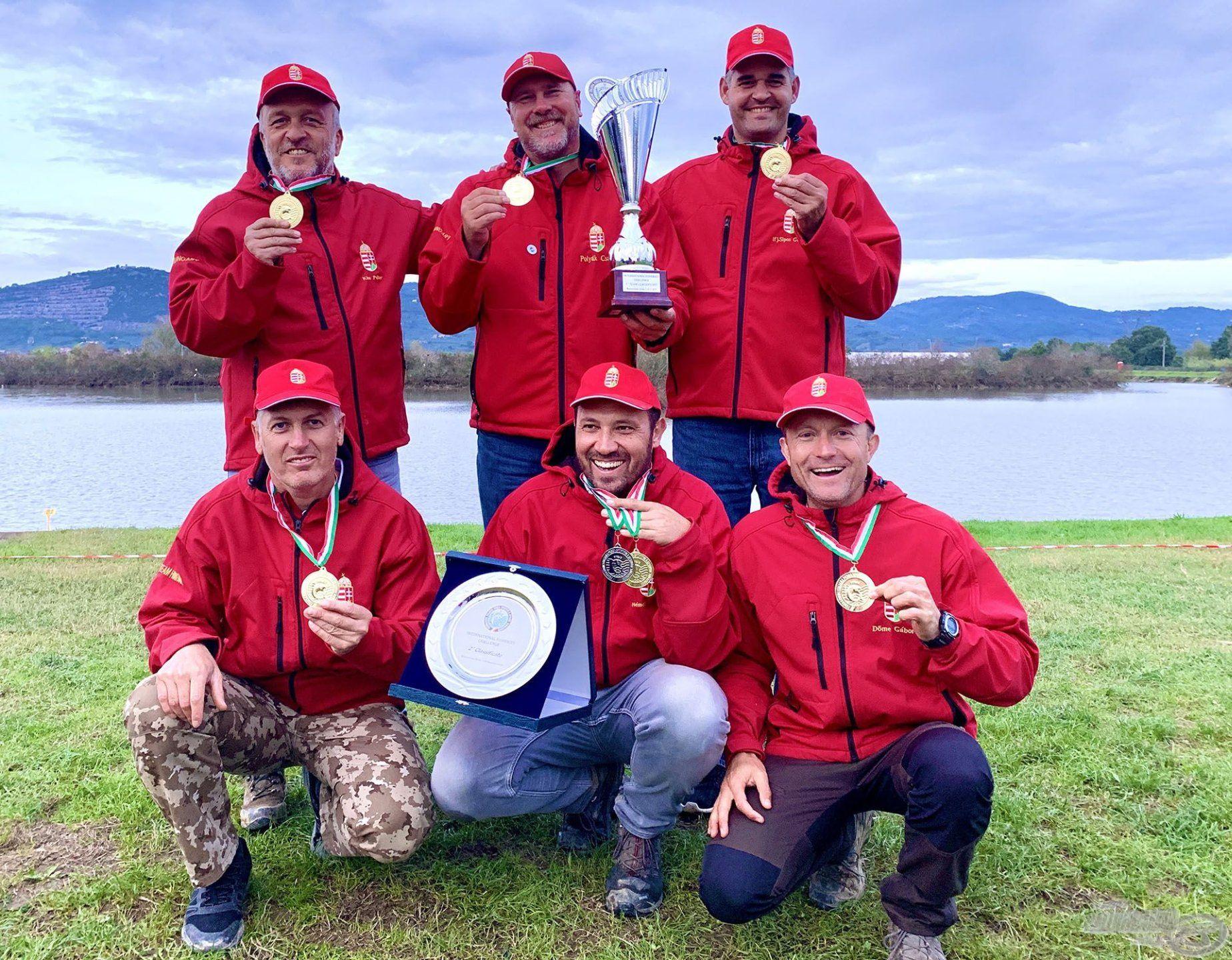 A method szakágban is megnyertük a legrangosabb ilyen jellegű versenyt, az Olaszországban megrendezett 1. International Feeder Challenge bajnokságot