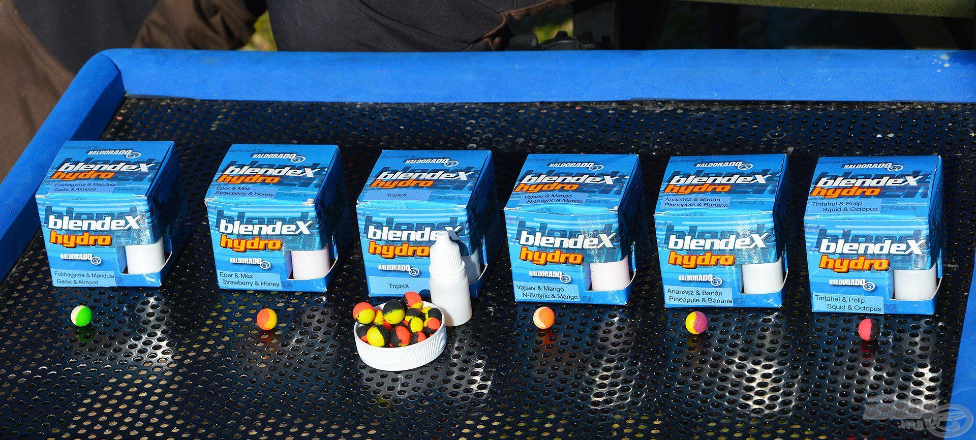 A BlendeX Hydro Method hat különféle ízben található meg a kínálatban
