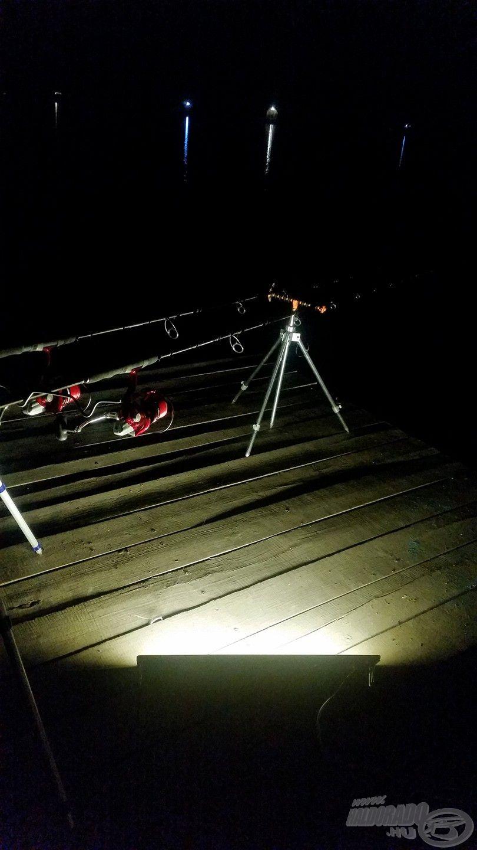 Hangulatos volt az éjszakai horgászat