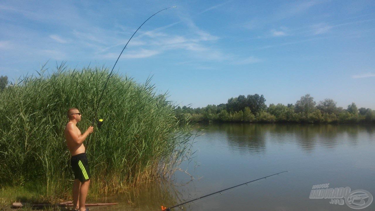 Első hal - egyelőre a túlparton