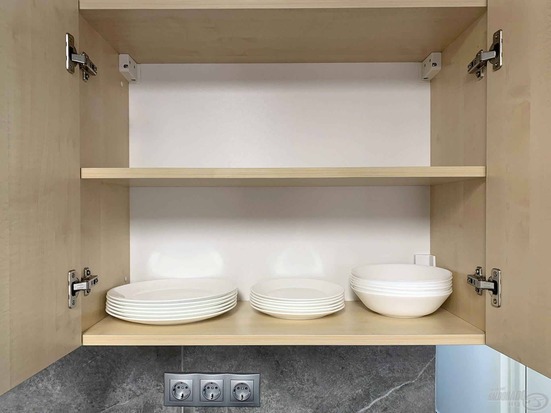 …valamint tányérok is rendelkezésre állnak