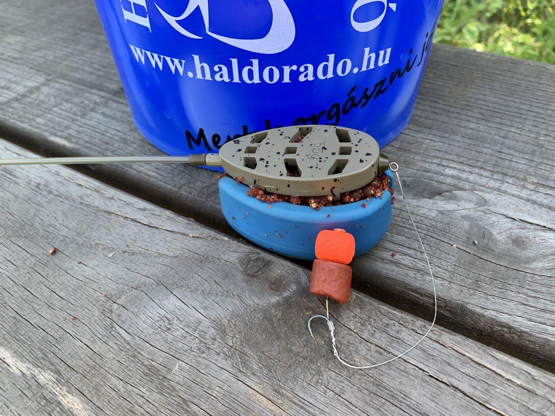A method kosarat először a felcsalizott horog nélkül töltöttem meg…