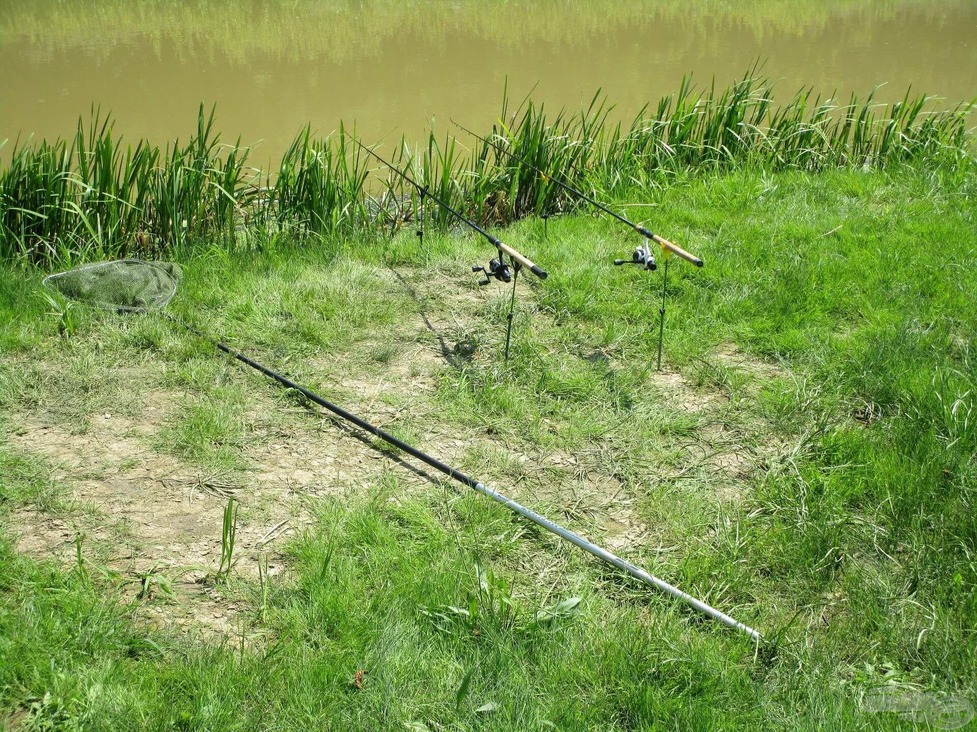 … nem messze a horgászállástól