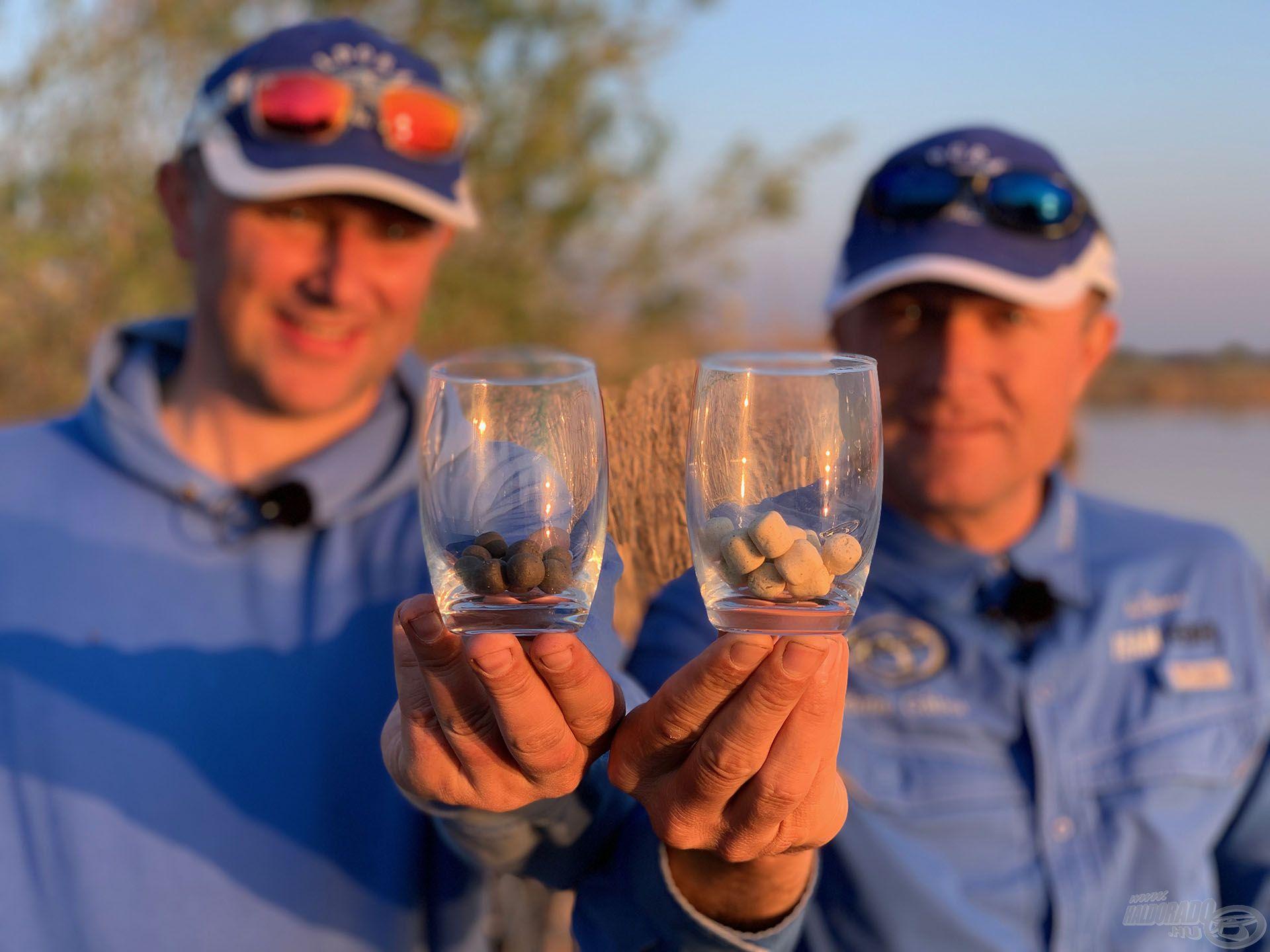 A pohárban található pellet szemek a megfogott halak számát jelzik (nem volt jobb halszámlálónk), a végeredmény 12:16 lett, azaz összesen 28 db pontyot fogtunk a nap folyamán! Soha rosszabb napot!!!