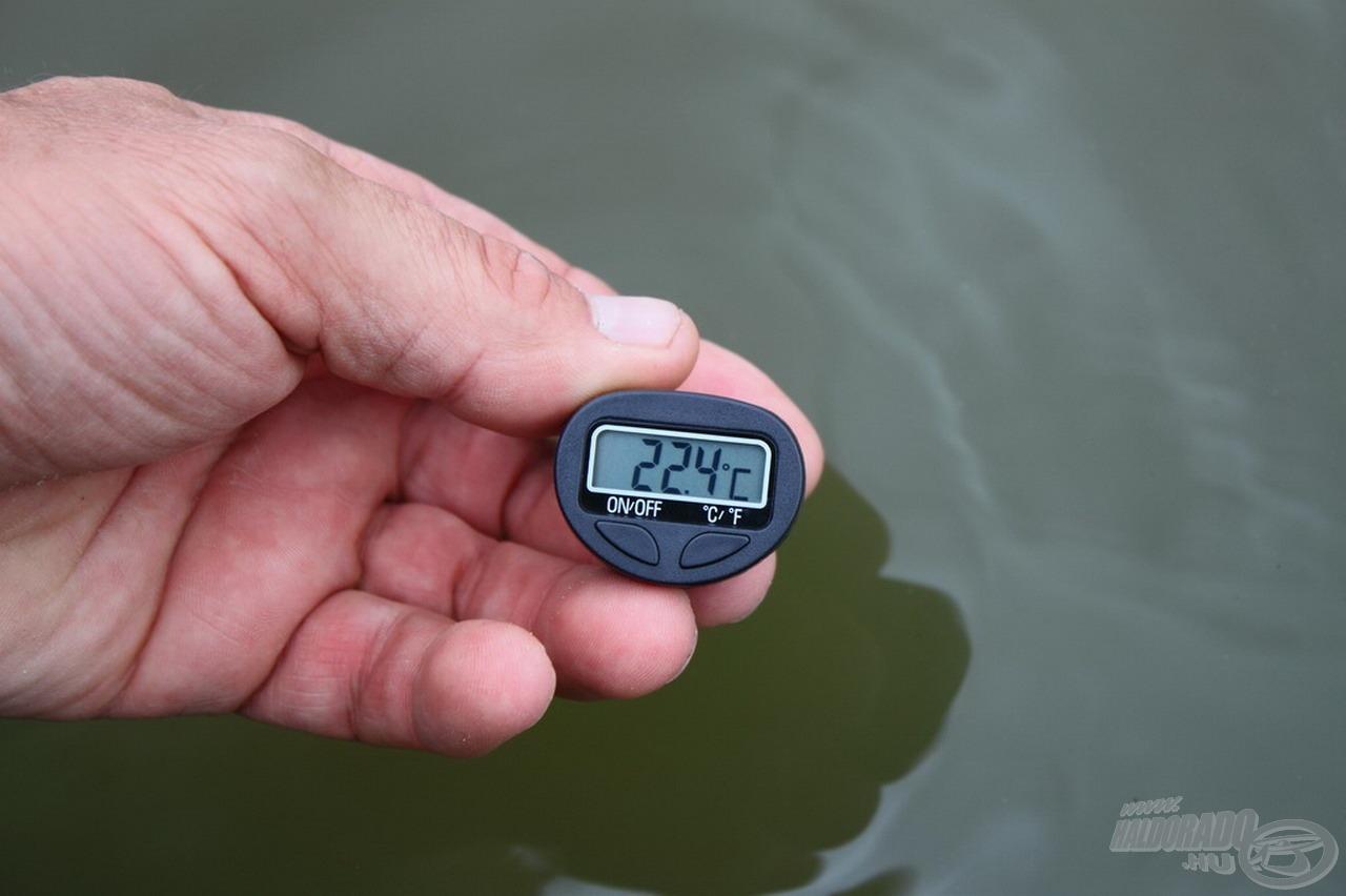 A víz hőfoka 20 Celsius-fok felett volt a forgatás napján