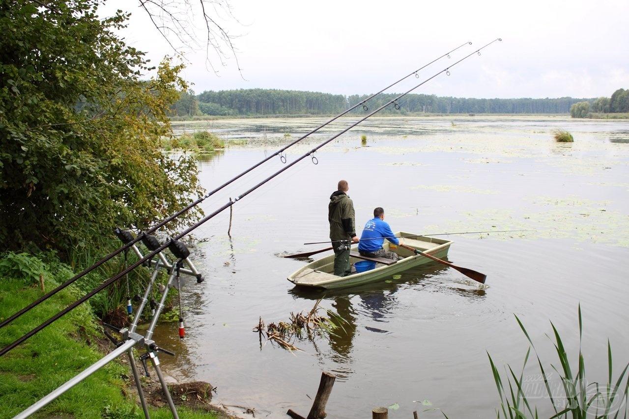 Csabával már összeszokott párost alkotunk, mindig segítjük egymást horgászat közben