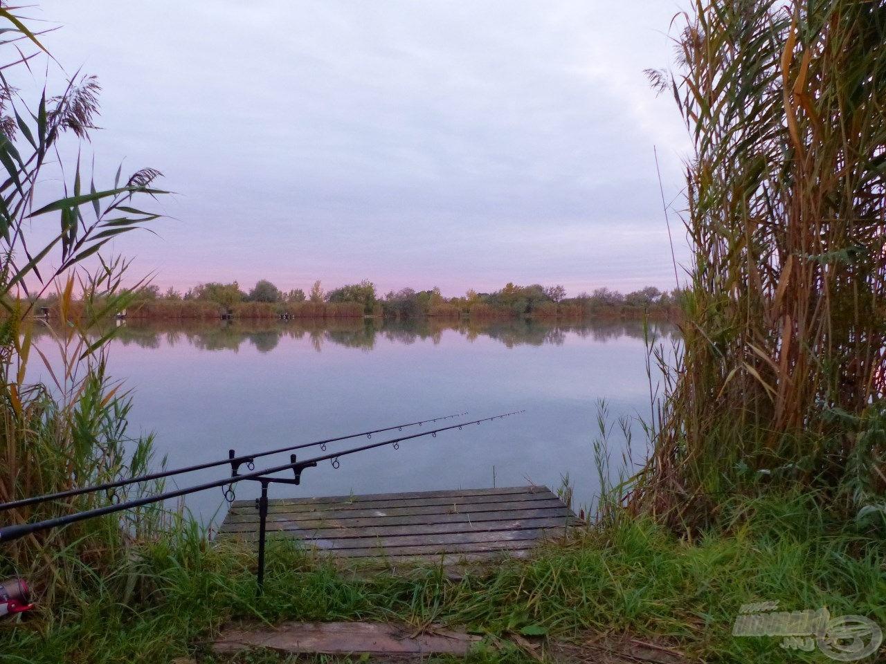 Viszonylag szűk, náddal benőtt horgászhely, ami azóta is az itteni horgászataim állandó helyszíne