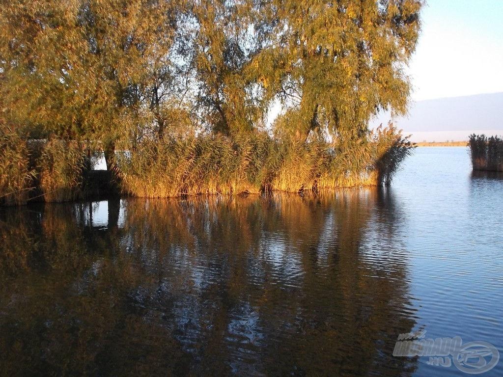 Csodaszép kis öböl a tó elején