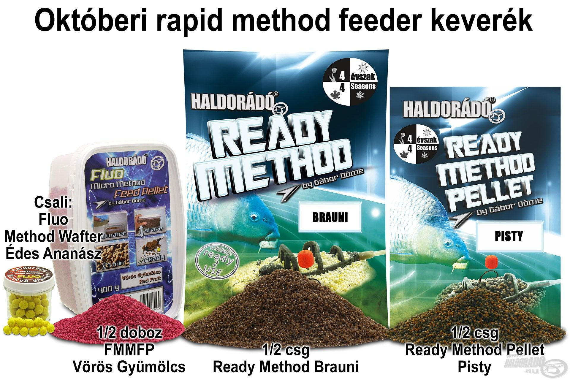 Októberi rapid method feeder keverék