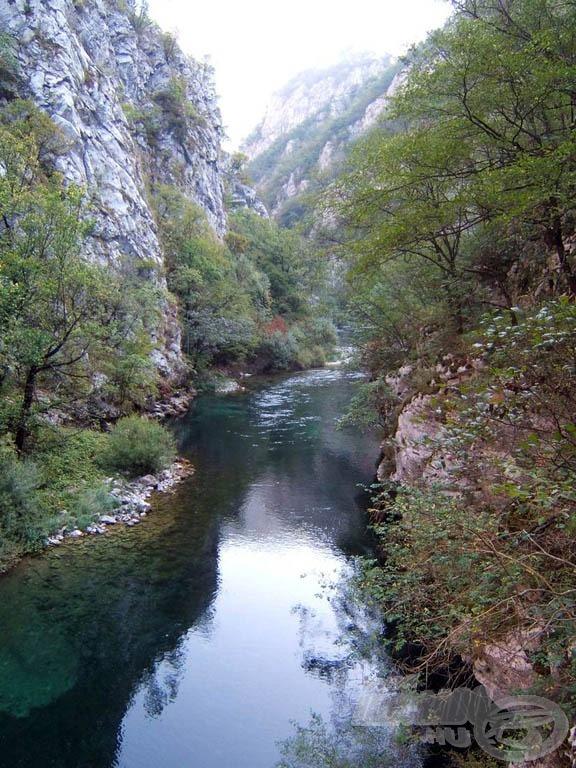 A kanyon egy részlete