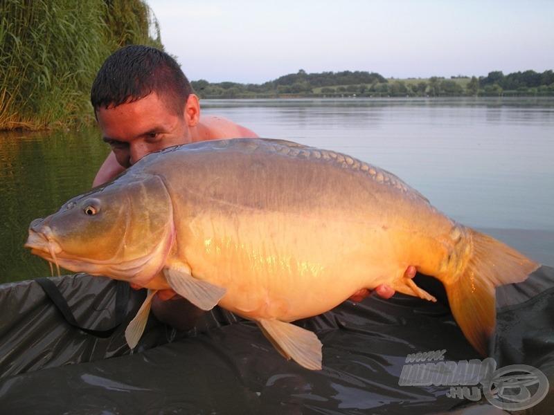 Napnyugta előtt érkezett ez a 11,7 kg-os aranyhasú, számomra ő volt a túra utolsó darabosabb hala