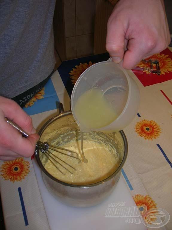 A gőzről levéve citromlével, sóval ízesítjük…